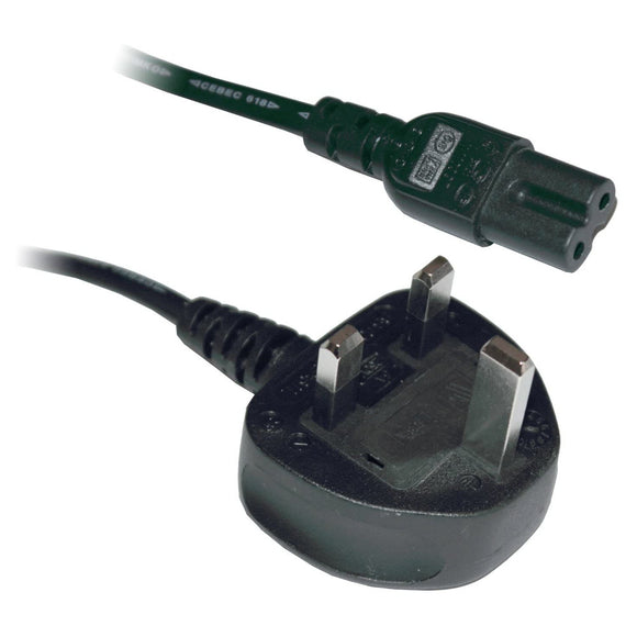 Figure of Eight Lead Power Cable - UK 3 Pin
