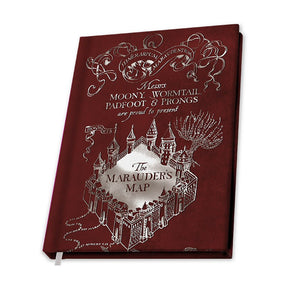Notebook A5 Harry Potter Marauders Map