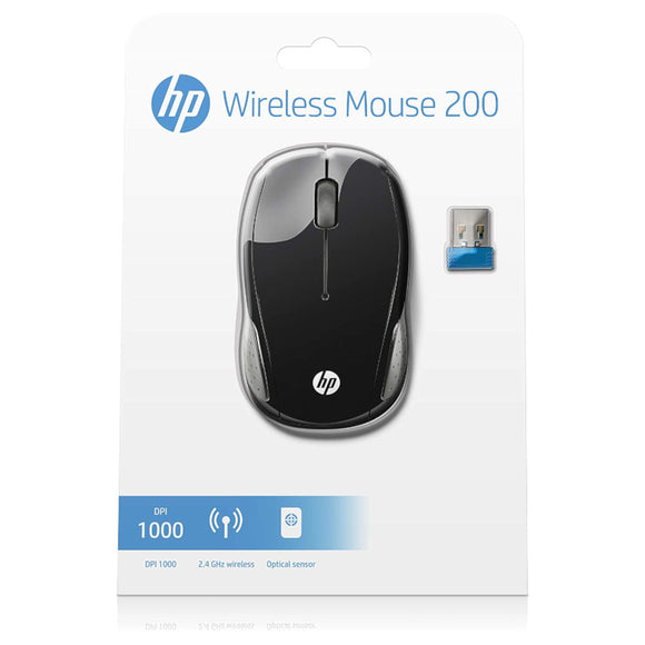 HP 200 Wireless Optical Mouse Black