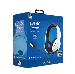 PDP Gaming PlayStation 5 White LVL 40 Headset