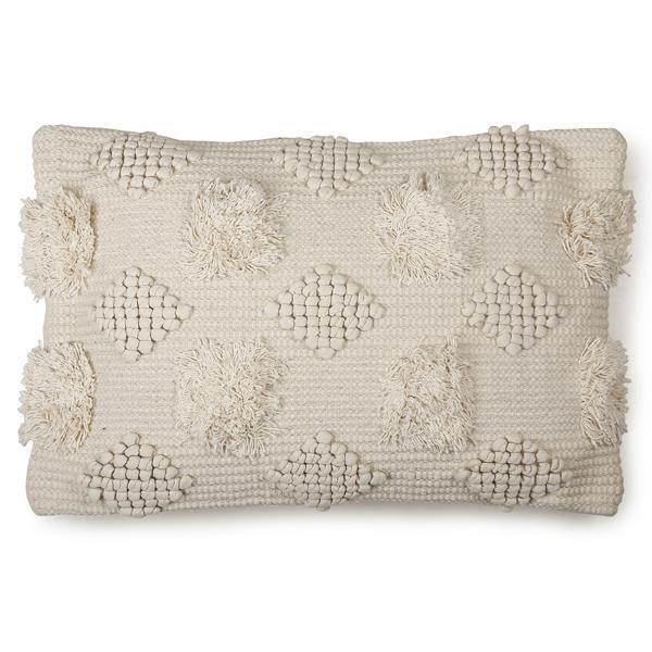 Diagonal Chindi Neutral Boho Cushion