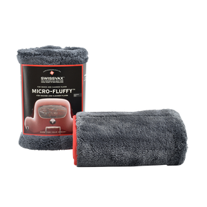MICRO-FLUFFY Detailing towel, high pile fleece (red silk border)
