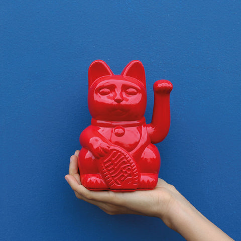 Lucky Cat Rojo Brillante