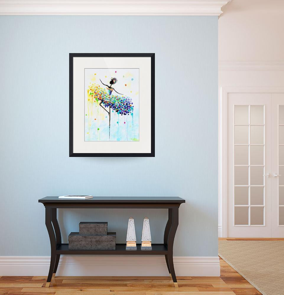 "GICLEE PRINT Art Abstract Dancer Painting Colorful CANVAS Prints Dance Wall Decor Sizes to 60"" - Christine Krainock Art - Contemporary Art by Christine - 4"