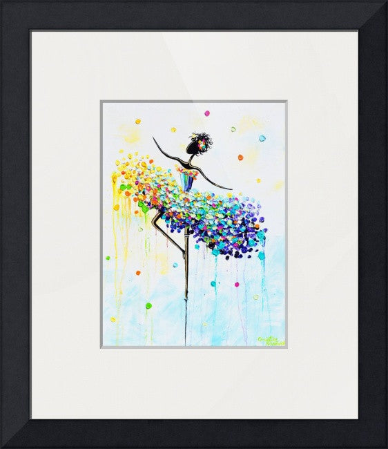 "GICLEE PRINT Art Abstract Dancer Painting Colorful CANVAS Prints Dance Wall Decor Sizes to 60"" - Christine Krainock Art - Contemporary Art by Christine - 5"