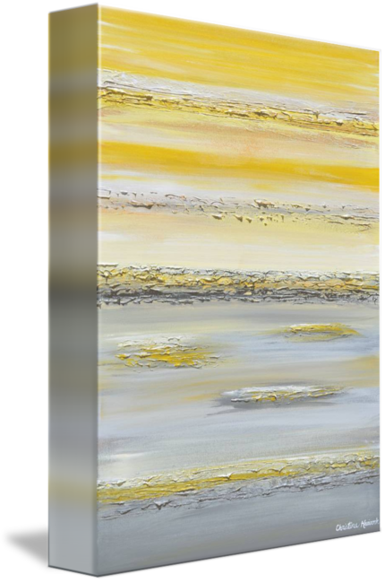 GICLEE PRINT Art Yellow Grey Abstract Painting Wall Art Modern Canvas Prints Urban Gold White City - Christine Krainock Art - Contemporary Art by Christine - 3