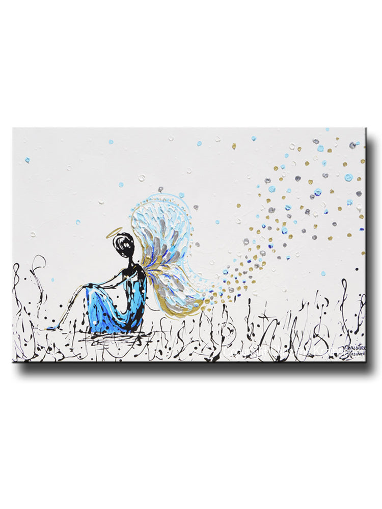 GICLEE PRINT Art Abstract Angel Painting Praying Angel Wall Art~ Joyful Heart Foundation Charity