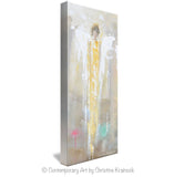 GICLEE PRINT Art Abstract Angel Painting Golden Angel Wall Art~ Joyful Heart Foundation Charity - Christine Krainock Art - Contemporary Art by Christine - 3