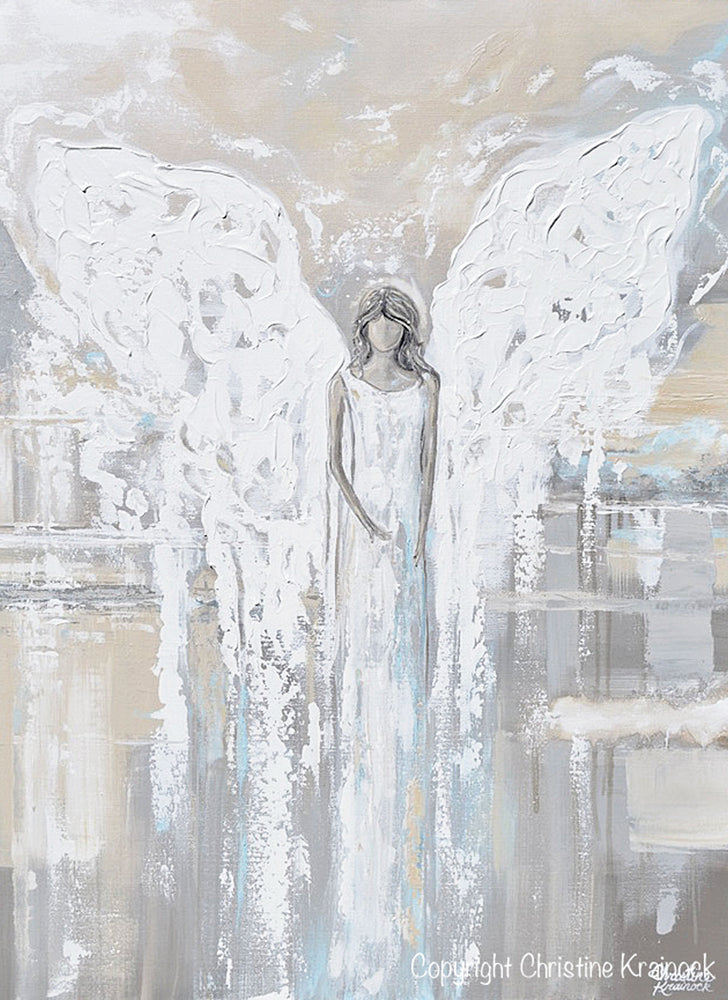 """Angel Girl Light Home Decor HD Canvas prints Picture Wall art Painting 18/""""x24/"""""""