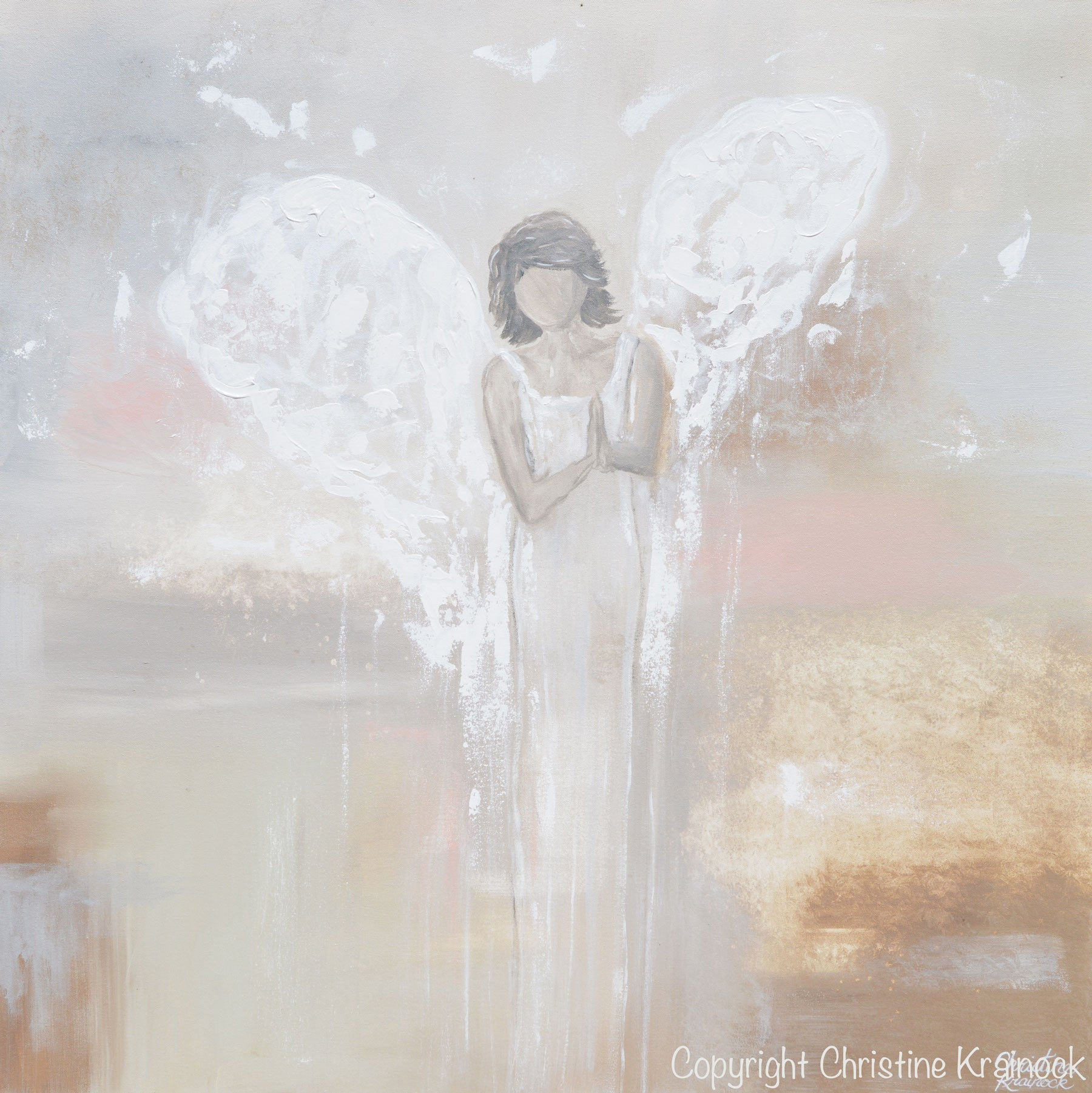 picture relating to Guardian Angel Prayer Printable known as GICLEE PRINT Summary Angel Portray Praying Dad or mum Angel Non secular Good Artwork Beige Gray Ivory Red Dwelling Wall Artwork Canvas