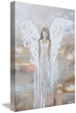GICLEE PRINT Abstract Angel Painting Fine Art Guardian Angel Neutral Home Canvas Wall Art