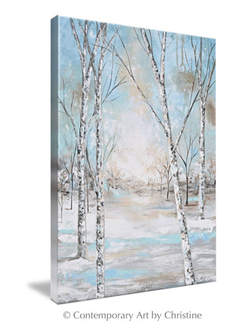 Abstract Birch Tree Wall Art