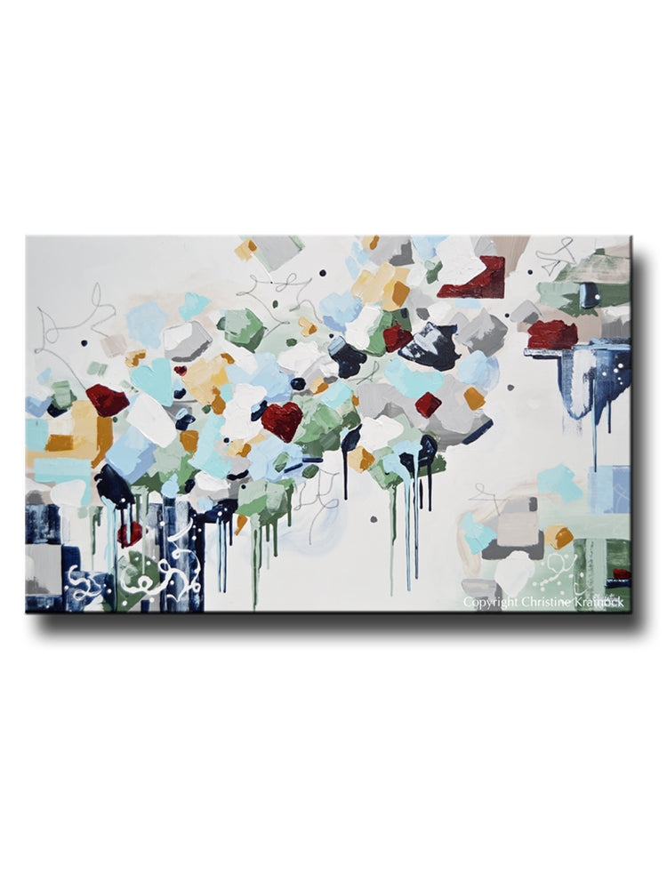 URBAN CITY GREEN TREES ABSTRACT CANVAS WALL ART PRINT PICTURE READY TO HANG