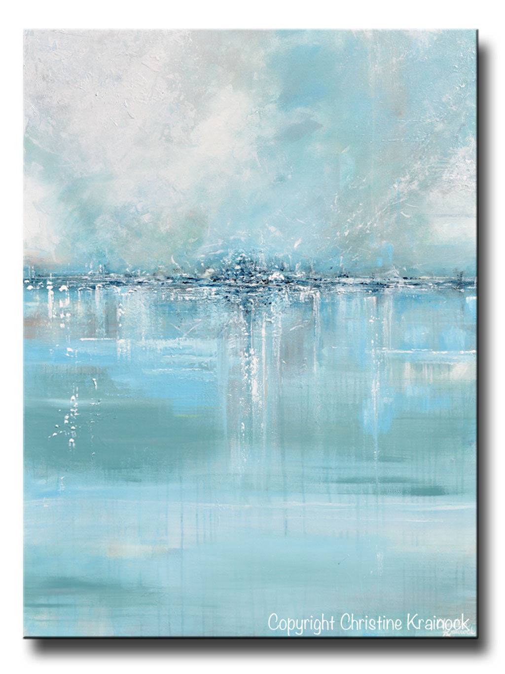 ORIGINAL Art Abstract Painting Blue Sea Foam Green Grey White Textured LARGE Canvas Coastal Wall Art  sc 1 st  SHOP Abstract PAINTINGS PRINTS CANVAS PRINTS Wall Art ... & SHOP Abstract PAINTINGS PRINTS CANVAS PRINTS Wall Art ...