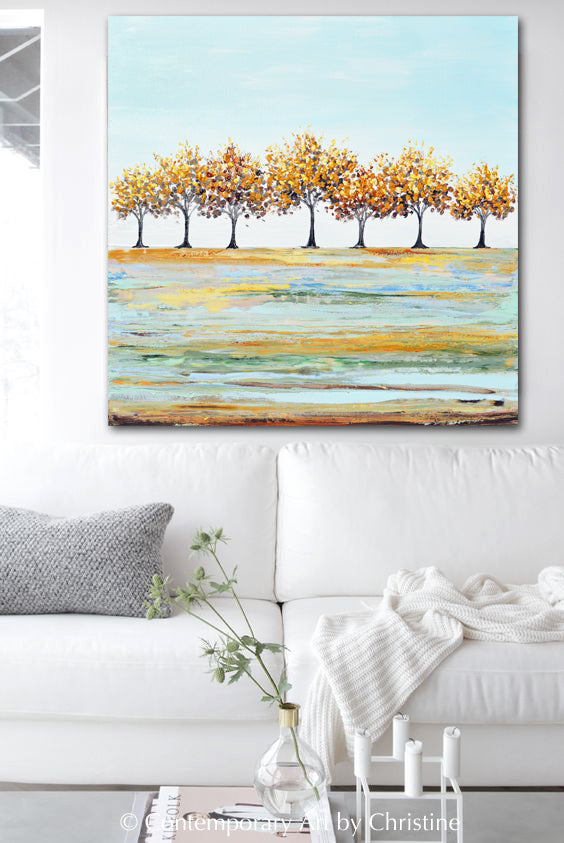 """Hope in the Air"" Giclee Print Art Abstract Landscape Painting Autumn Trees"