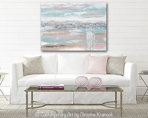 large canvas wall art amazon very uk oversized for sale abstract painting landscape grey taupe pink peach blue navy white field modern pastel living room rose gold