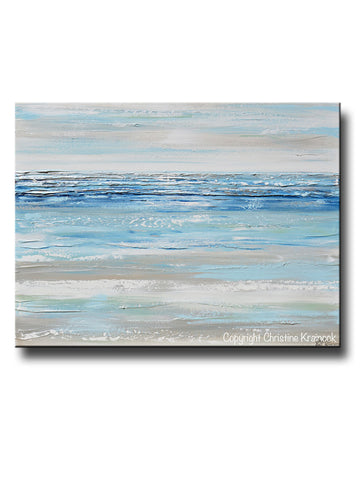 Giclee Print Grey Gold Abstract Painting Modern Coastal