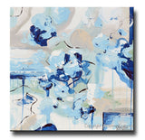 ORIGINAL Art Abstract Painting Light Blue Navy White Grey Coastal Wall Art Home Decor 20x20""