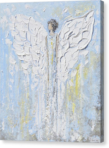 Giclee Print Angel Painting Angel Beside You - Canvas Print