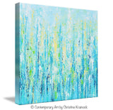 GICLEE PRINT Art Abstract Painting Light Blue Aqua Contemporary Coastal Wall Art Teal Yellow Canvas - Christine Krainock Art - Contemporary Art by Christine - 5