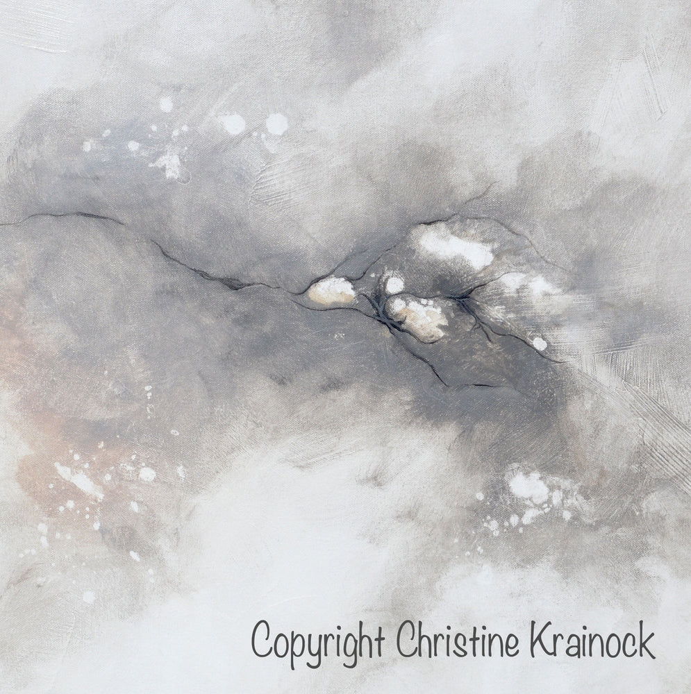 GICLEE PRINT Art Abstract Grey White Painting Coastal CANVAS PRINTS Modern Neutral Wall Art - Christine Krainock Art - Contemporary Art by Christine - 5