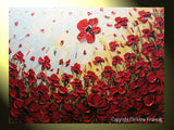 ORIGINAL Art Abstract Painting Red Poppy Flowers Landscape Large Canvas Textured Spring Poppies - Christine Krainock Art - Contemporary Art by Christine - 5