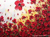ORIGINAL Art Abstract Painting Red Poppy Flowers Landscape Large Canvas Textured Spring Poppies - Christine Krainock Art - Contemporary Art by Christine - 6