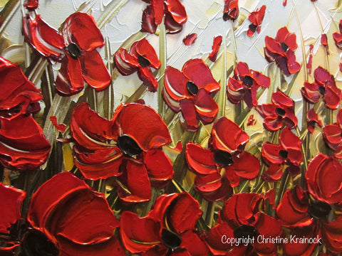 Original art abstract painting red poppy flowers landscape large original art abstract painting red poppy flowers landscape large canvas textured spring poppies mightylinksfo