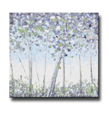 ORIGINAL Art Abstract Trees Painting Modern Textured Birch White Blue Grey Lavender Green Wall Art - Christine Krainock Art - Contemporary Art by Christine - 3