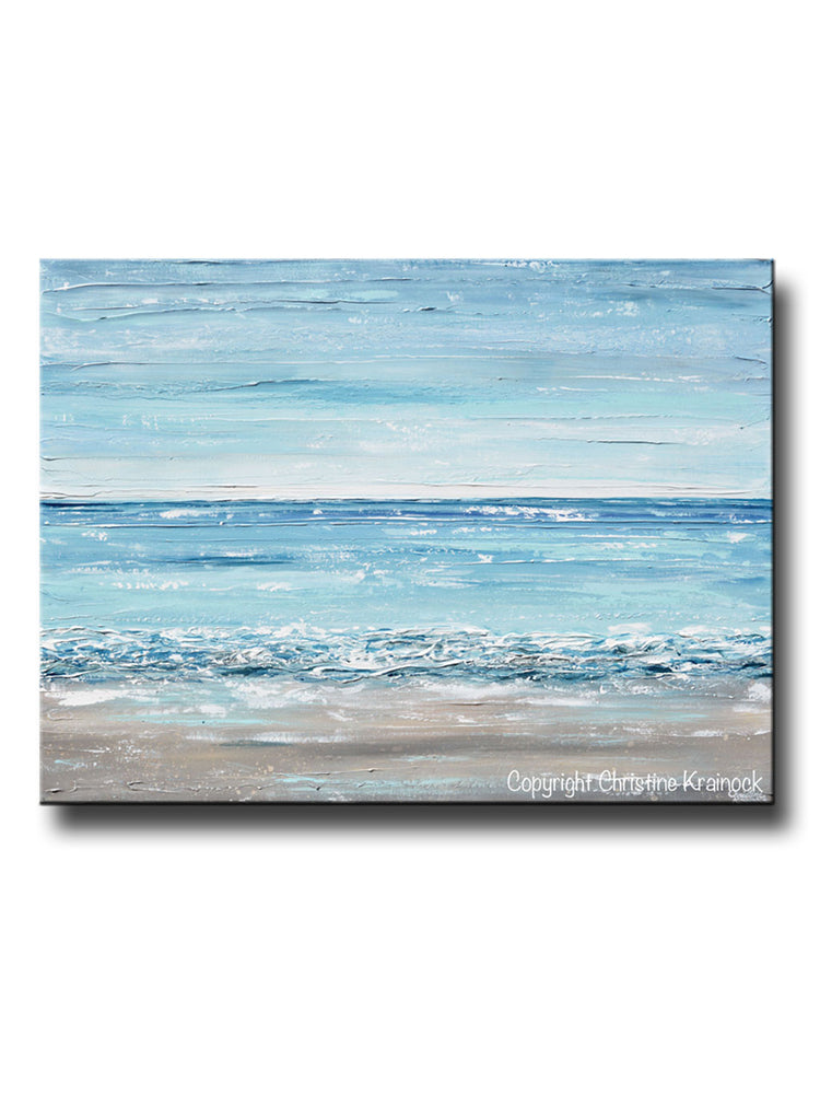 Large Seascape Painting Abstract Painting Modern Artwork Painting Seascape Large Sea Abstract Painting Blue Abstract