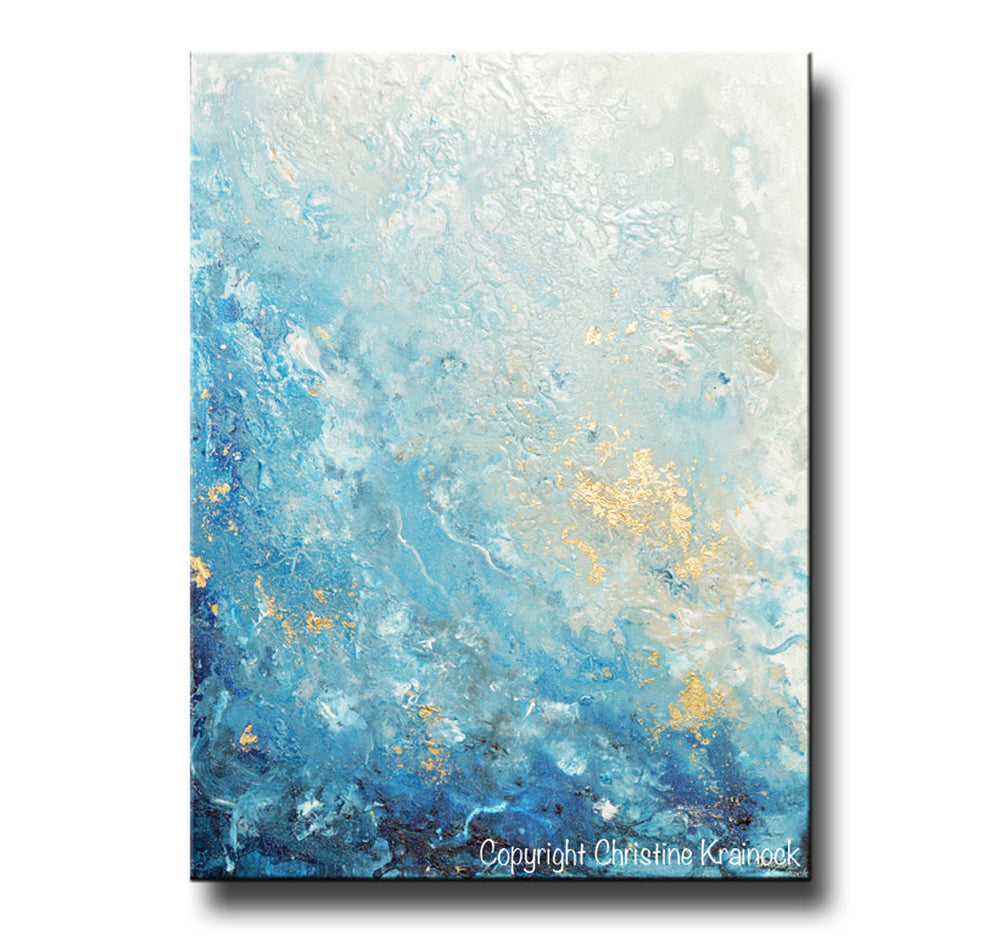 Blue Navy Chic Modern Abstract Grey Framed Wall Art Large Picture Prints