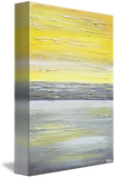 GICLEE PRINT Art Abstract Yellow Grey Painting Vertical Wall Art Canvas Prints Urban Gold White - Christine Krainock Art - Contemporary Art by Christine - 3