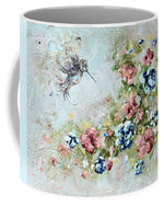 "Hummingbird Mug Coffee Cup Nature ""Bringing Light And Love"" Artwork"