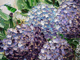 GICLEE PRINT Art Abstract Painting Hydrangea Flowers Impasto Lavender Purple Canvas Prints - Christine Krainock Art - Contemporary Art by Christine - 2