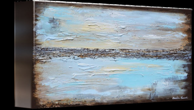 GICLEE PRINT Art Blue Abstract Painting Modern Coastal Canvas Prints Urban Aqua Brown White - Christine Krainock Art - Contemporary Art by Christine - 4