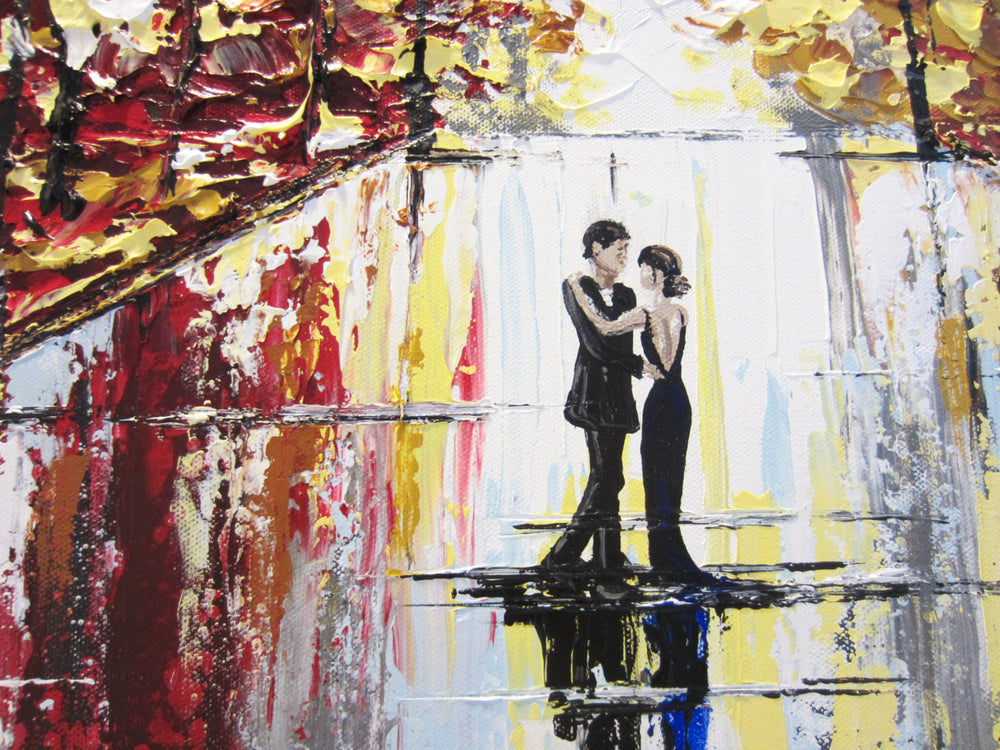 "GICLEE PRINT Art Abstract Painting Couple City Park Dance CANVAS Prints Urban Decor Sizes to 60"" - Christine Krainock Art - Contemporary Art by Christine - 5"