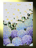 GICLEE PRINT Art Abstract Painting Hydrangea Purple Lavender Blue White Flowers Canvas Prints - Christine Krainock Art - Contemporary Art by Christine - 3