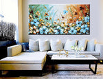 "GICLEE PRINT Art Abstract Painting Blue Flowers Poppies Modern Canvas Prints Select Sizes to 60"" - Christine Krainock Art - Contemporary Art by Christine - 6"