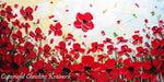 SOLD ORIGINAL Art Abstract Painting Red Poppy Painting Flowers Textured Modern Landscape Poppies Palette Knife Painting Fall Wall Decor Christine - Christine Krainock Art - Contemporary Art by Christine - 2