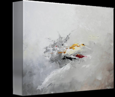 GICLEE PRINT Grey Gold Abstract Painting Modern Coastal Wall Art ...