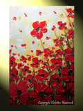 ORIGINAL Art Abstract Painting Red Poppies Painting Textured Poppy Flowers Paintings Spring - Christine Krainock Art - Contemporary Art by Christine - 4