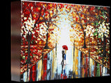 GICLEE PRINT Art Abstract Painting Couple Red Umbrella Dancing Rain City Park Large Canvas Prints - Christine Krainock Art - Contemporary Art by Christine - 5