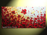 ORIGINAL Art Abstract Painting Red Poppy Flowers Large Textured Landscape Summer Poppies Art - Christine Krainock Art - Contemporary Art by Christine - 3