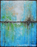 "SOLD ORIGINAL Art Abstract Painting Aqua Blue Green White Textured Coastal Large Wall Art Home Decor READY to SHIP 30"" -Christine - Christine Krainock Art - Contemporary Art by Christine - 3"