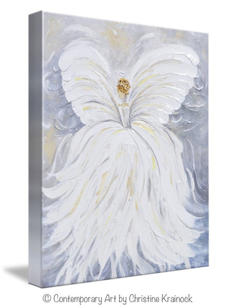 Giclee Print Abstract Angel Painting Canvas Wall Art