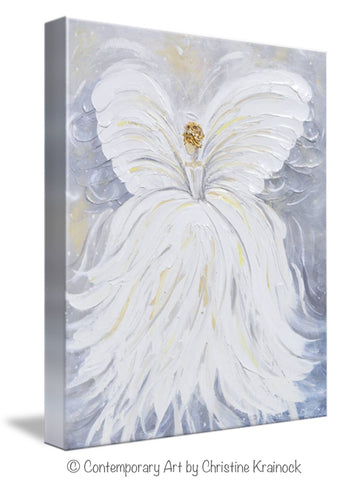 Spiritual Wall Art giclee print abstract angel painting canvas wall art