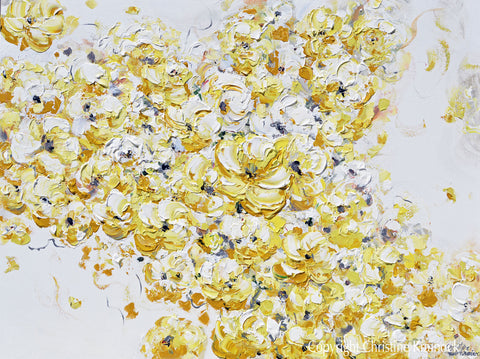 Original art yellow grey abstract painting floral flowers gold grey white wall decor 30x40 original art yellow grey abstract painting floral flowers gold grey white wall decor 30x40 mightylinksfo