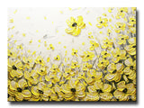 "Original Art Yellow Grey Abstract Painting Flowers Poppies Modern Coastal Gold White Floral 30x40"" - Christine Krainock Art - Contemporary Art by Christine - 3"