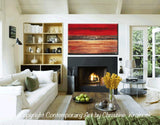 GICLEE PRINT Art Abstract Red Painting Canvas Prints Modern Urban Wall Art Brown Gold Coastal - Christine Krainock Art - Contemporary Art by Christine - 2