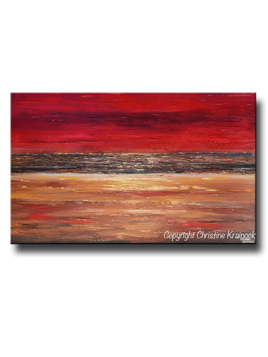 Red Canvas Wall Art giclee print art abstract red painting canvas prints modern urban